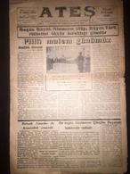 Cyprus Nicosia Lefkosa - Turkish Newspaper Ates 10 November 1946 - Livres, BD, Revues