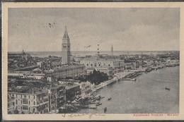 VENETO - VENEZIA  - VEDUTA AEREA - FORMATO PICCOLO - ASCENSORE STIGLER MILANO - VIAGGIATA 1914 PER LA FRANCIA - Venezia