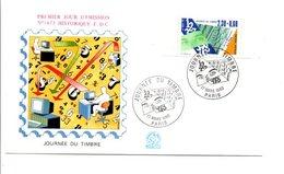 1990 FDC JOURNEE DU TIMBRE - 1990-1999