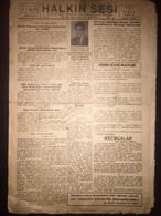Cyprus Nicosia Lefkosa - Turkish Newspaper Halkin Sesi 5 April 1946 - Books, Magazines, Comics