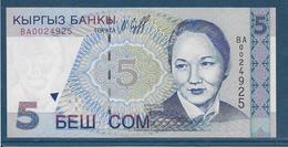 Kirghizistan - 5 Som - Pick N°8 - NEUF - Kyrgyzstan