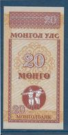 Mongolie - 20 Mongo - Pick N°50 - NEUF - Mongolia