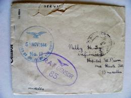 Cover 1944 WwII Special Cancel R.A.F. Censor 85 - Cartas