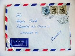 Cover Iraq To Germany 1958 Overprints - Iraq