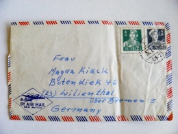 Cover  China To Germany 1957 Soldiers - Covers & Documents