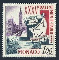 Monaco 629,MNH.Michel 824. 35th Monte Carlo Rally,1966.Map. - Cars