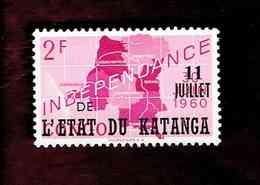 """Katanga. OBP-COB. 1960 - N°40. *CONGO INDEPENDANCE. SURCHARGES """"11 JUILLET DE L'ETAT DU KATANGA"""".  2F. Neuf - Katanga"""