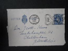 GREAT BRITAIN [UK] POSTMARK E &P QUEEN ELIZABETH MARRIAGE ROSHDALE 29 NOV 1947 - Postmark Collection