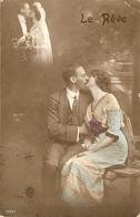 CPA Colorisée France 1913 - Jeune Couple, Rêve De Mariage - Noces