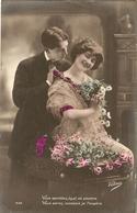 CPA Colorisée Belgique 1913 - Jeune Couple, - Noces