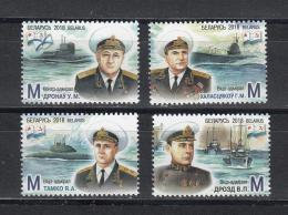 Belarus Weissrussland 2018 MNH** Mi. Nr. 1257-60 Admirals Of The Navy Born In Belarus - Belarus