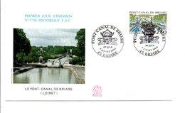 1990 FDC PONT CANAL DE BRIARE LOIRET - 1990-1999
