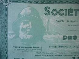 NOUVELLE Des PECHERIES à VAPEUR             NANTES 1925 SUPERBE BATEAU - Tourisme