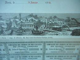 Chemins De Fer Des COLONIES FRANCAISES De SAIGON à MYTHO SUPERBE DEKO Et RARE - Chemin De Fer & Tramway
