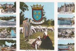 Carte 1960 VIERZON / MULTIVUES :plage Bellon,ecole Nationale,vue Aérienne,auditorium.... - Vierzon