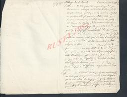 ANCIENNE NOTES SUR SUR L ABBAYE DE SAINT DENIS LAGNY 3 PAGES LIRE ?  : - Manoscritti