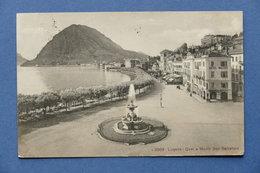 Cartolina Svizzera - Lugano - Quai E Monte S. Salvatore - 1910 - Postcards