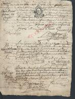 ANCIEN DOCUMENT CACHET GÉNÉRALITÉ SUR DIVERS  BAPTÉME NOM DE FAMILLE  VILLE DE LAGNY ? 4 PAGES : - Seals Of Generality