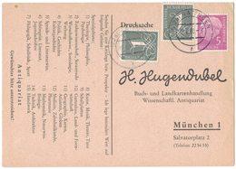 AI73    BRD 1960 - Drucksache Bücherzettel Von Ratingen Nach München, Mi.179y/285y - [7] Repubblica Federale