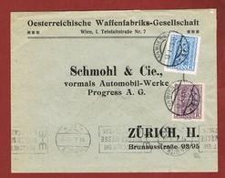 Infla Ab 1 Dez 1924 Ausland  Brief - 1918-1945 1. Republik
