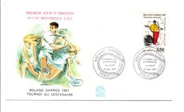 1991 FDC TENNIS TOURNOI DU CENTENAIRE A ROLAND GARROS - FDC