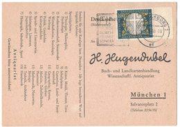 AI74    BRD 1960 - Drucksache Bücherzettel Von Augsburg Nach München Mi.329 - Storia Postale