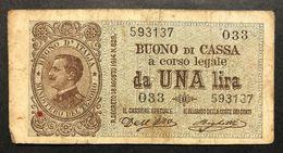 1 Lira Buono Di Cassa Serie 033 02 09 1914   LOTTO 091 - [ 1] …-1946 : Kingdom