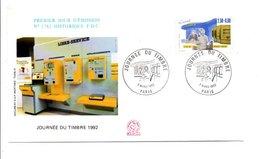 1992 FDC JOURNEE DU TIMBRE - 1990-1999