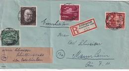 AUTRICHE 1944 LETTRE RECOMMANDEE  DE SCHILLINGSTADT AVEC CACHET ARRIVEE MANNHEIM - 1918-1945 1. Republik