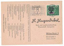 AI75    BRD 1960 - Drucksache Bücherzettel Von Bad Godesberg Nach München Mi.326 - Storia Postale