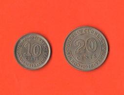 Malesia Malaya 20 Cents 1948 E 10 Cents  1949 Good Quality - Malesia