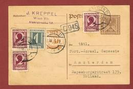Infla Ab 1 März 1925 Ausland  Postkarte Mif. Kr. - Sch. - 1918-1945 1. Republik