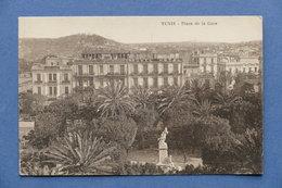 Cartolina Tunisia - Place De La Gare - 1937 - Postcards