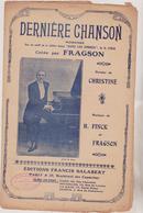 (GEO) Derniere Chanson , FRAGSON , Paroles CHRISTINE , Musique FINCK - Scores & Partitions