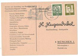 AI76    BRD 1963 - Drucksache Bücherzettel Von Essen Nach München Mi.350-347 - Storia Postale