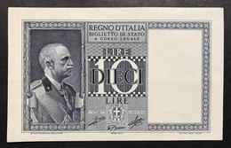10 LIRE IMPERO 1939 XVIII Spl/sup LOTTO 1837 - [ 1] …-1946 : Royaume