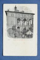 Cartolina Rieti - Loggia Del Palazzo Vincentini - 1900 Ca. - Rieti