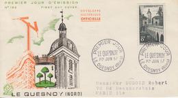 Enveloppe  FDC   1er  Jour    FRANCE   LE  QUESNOY  8F   1957 - FDC