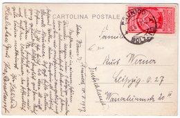 Colonie Estive Cent 75 -da Brunico Per Germania 19.8.37-Su Cartolina. - 1900-44 Vittorio Emanuele III
