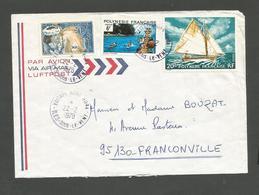 115    Voilieret 2 Timbres  Cachets D'époque  (clasbla) - Polynésie Française