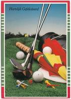 GOLF: Golf Equipment / Attributen - 'Hartelijk Gefeliciteerd' - (Holland) - Golf