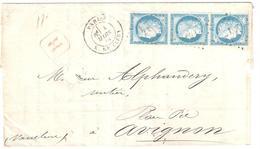 """PARIS R Clery Lettre Recommandé Ob Etoile 24 25c Cérés Type 3 Ob 4 3 1875 Déchirure De Lettre Au Niveau De """"Monsieur"""" - 1871-1875 Ceres"""