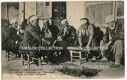 CARTOLINA ALEP JOUEURS AU MANICALE DANS UN CAFè INDIGENE SIRIA SYRIE VIAGGIATA ANNO 1915 - Siria