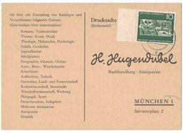 AI78    BRD 1962 - Drucksache Bücherzettel Von Simbach A.Inn Nach München Mi.373 - Storia Postale