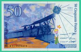 50 Francs - France - Saint  Exupéry -  1994 - N°R015555278  -  Neuf  - - 1992-2000 Laatste Reeks