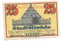 **notgeld  Rinteln 25 Pfennig 1125.1c !!!!!!catalog Val 5,00 Euro - [11] Emissions Locales