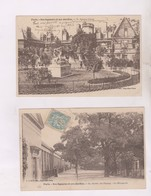 2 CPA DPT 75 PARIS SES SQUARES ET JARDINS, , SQUARE CLUNY , Et JARDIN DES PLANTES En 1905! - Parcs, Jardins