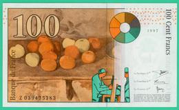 100 Francs - France -  Sézanne - 1997 - N° Z039435383 -  Neuf  - - 1992-2000 Dernière Gamme