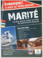 """CPM """"Embarquez Sur Le Marité"""" Voilier Goëlette Terre-neuvas Granville Pêche Morue Terre-neuvier St Pierre Et Miquelon - Granville"""