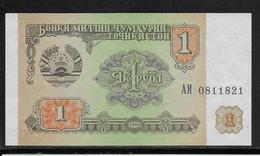 Tadjikistan - 1 Ruble - Pick N°1 - NEUF - Tadjikistan